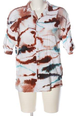 Pull & Bear Kurzarmhemd abstraktes Muster Elegant
