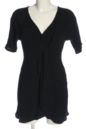 Pull & Bear Kurzarmkleid schwarz Elegant