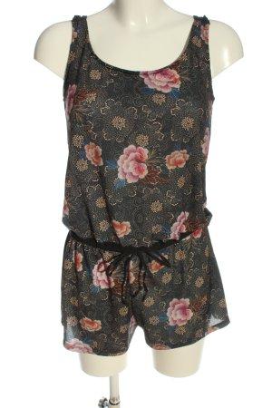 Pull & Bear Kurzer Jumpsuit Blumenmuster Casual-Look