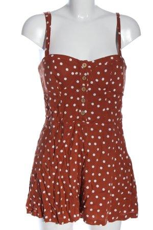 Pull & Bear Kurzer Jumpsuit rouge-blanc motif de tache style décontracté