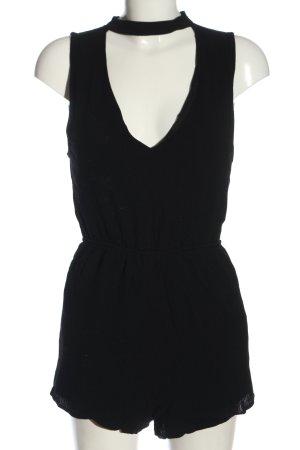 Pull & Bear Kurzer Jumpsuit schwarz Elegant
