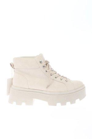 Pull & Bear Krótkie buty biały W stylu casual