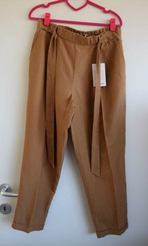 Pull & Bear Linen Pants brown lyocell