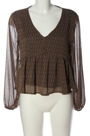 Pull & Bear Blusa de manga larga marrón-caqui look casual