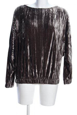 Pull & Bear Langarm-Bluse braun Elegant