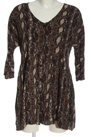 Pull & Bear Langarmhemd abstraktes Muster Casual-Look