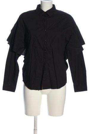 Pull & Bear Langarmhemd schwarz Business-Look