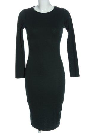 Pull & Bear Robe à manches longues noir élégant
