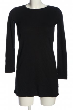 Pull & Bear Langarmkleid schwarz Casual-Look