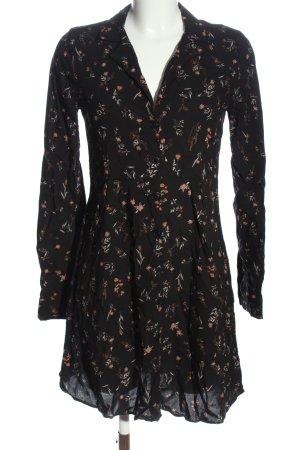 Pull & Bear Robe à manches longues noir imprimé allover style décontracté