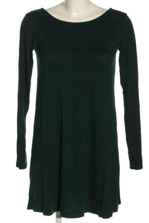 Pull & Bear Langarmkleid dunkelgrün Zopfmuster Casual-Look