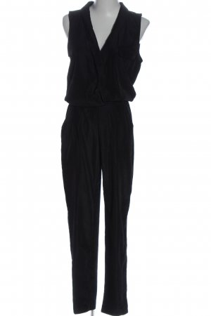 Pull & Bear Langer Jumpsuit schwarz Elegant