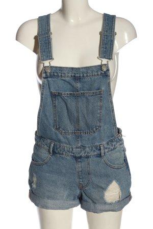 Pull & Bear Salopette en jeans bleu style décontracté