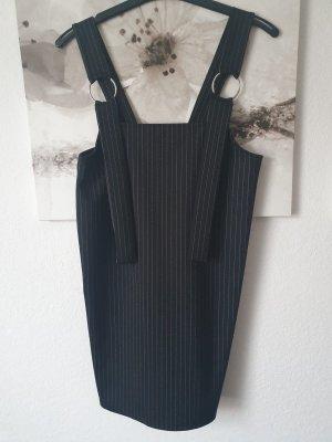Pull & Bear Sukienka z krótkim rękawem czarny-biały