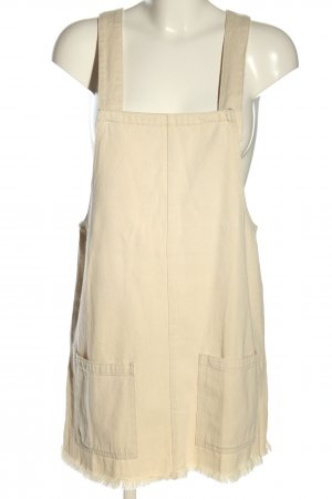 Pull & Bear Pinafore Overall Skirt cream casual look