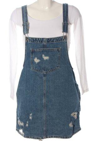 Pull & Bear Salopette-jupe bleu style décontracté