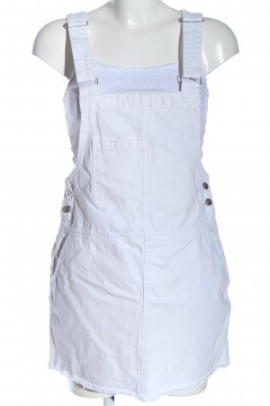 Pull & Bear Pinafore Overall Skirt white casual look