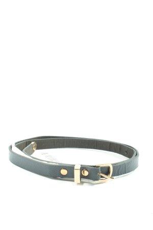 Pull & Bear Cinturón de cuero de imitación negro look casual