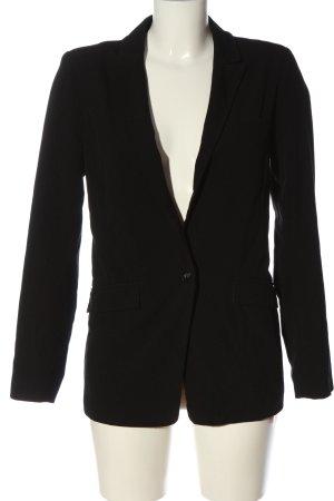 Pull & Bear Blazer long noir style d'affaires