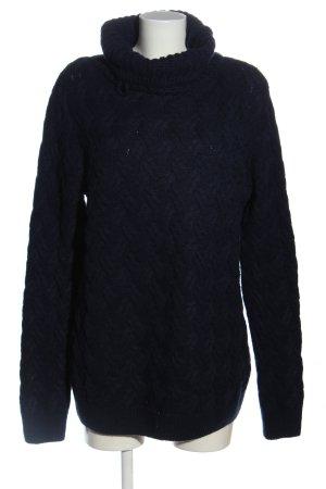 Pull & Bear Maglione lungo blu stile casual