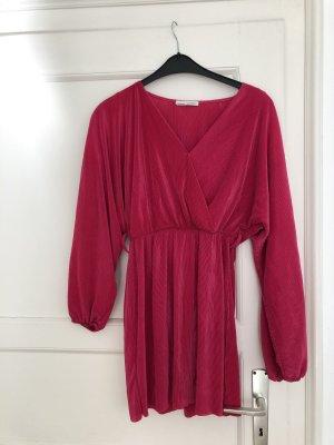 Pull&Bear M 38 plissiertes Kleid Minikleid mit Gürtel