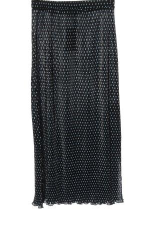 Pull & Bear Spódnica midi czarny-niebieski Na całej powierzchni W stylu casual