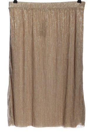 Pull & Bear Spódnica midi nude Elegancki