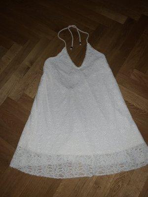 Pull & Bear Halter Dress natural white polyester