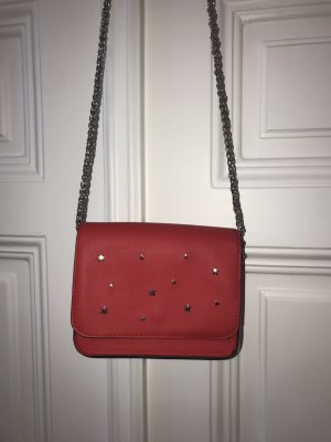 Pull & Bear Mini Bag red-brick red polyester
