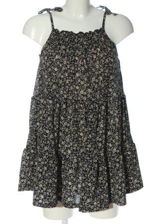 Pull & Bear Minikleid schwarz-creme Allover-Druck Casual-Look