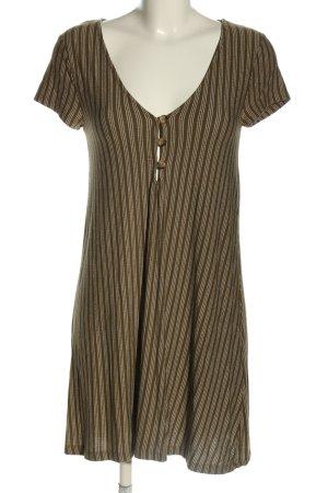 Pull & Bear Sukienka mini brązowy-biały Na całej powierzchni W stylu casual