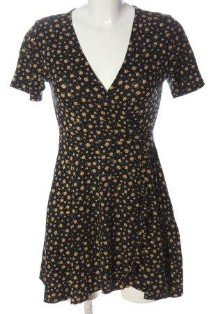 Pull & Bear Mini vestido estampado repetido sobre toda la superficie look casual