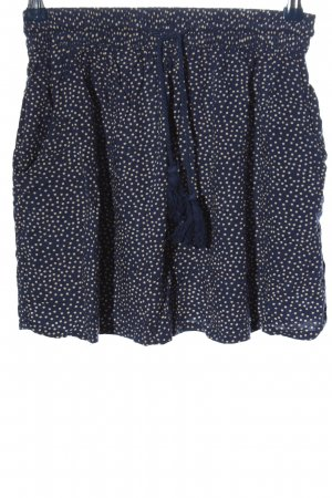Pull & Bear Minirock blau-wollweiß Punktemuster Casual-Look
