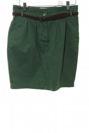 Pull & Bear Minirock grün-schwarz Casual-Look