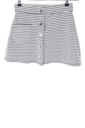Pull & Bear Minirock weiß abstraktes Muster Casual-Look