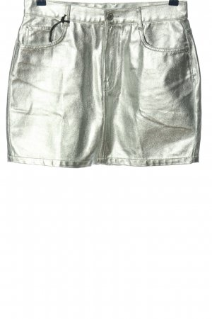Pull & Bear Minirock silberfarben extravaganter Stil