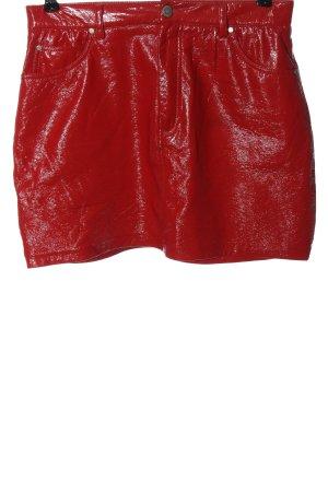 Pull & Bear Minigonna rosso stile casual