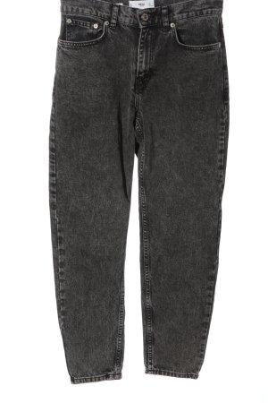 Pull & Bear Jean mom gris clair style décontracté