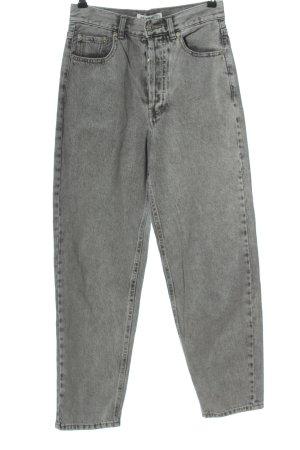 Pull & Bear Mom-Jeans hellgrau Casual-Look