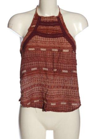 Pull & Bear Top z dekoltem typu halter Abstrakcyjny wzór W stylu casual