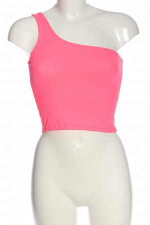 Pull & Bear One Shoulder Shirt pink casual look