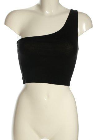 Pull & Bear One Shoulder Top black elegant