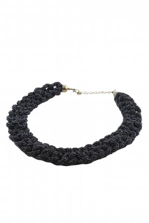 Pull & Bear Pearl Necklace black elegant