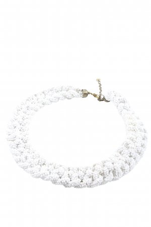 Pull & Bear Pearl Necklace gold-colored-white casual look