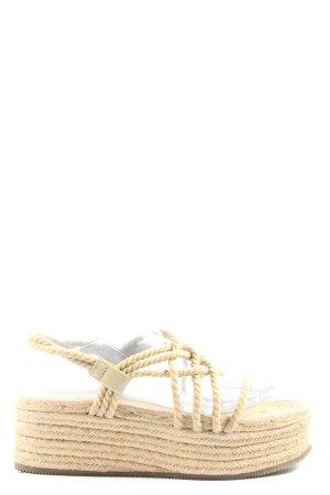 Pull & Bear Platform Sandals cream casual look