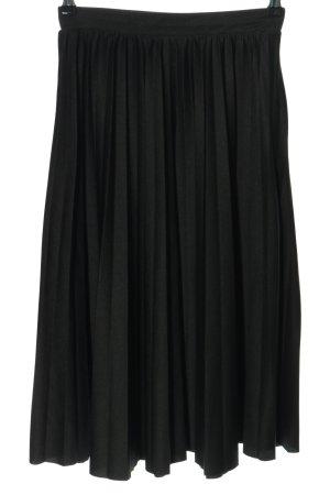 Pull & Bear Plisowana spódnica czarny W stylu casual