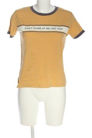 Pull & Bear Print-Shirt Schriftzug gedruckt Casual-Look