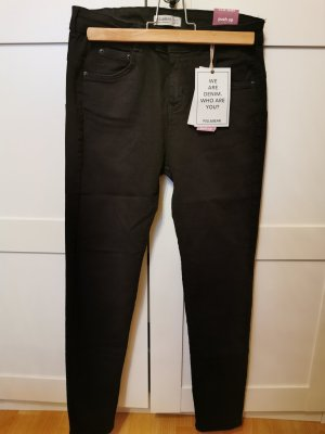 Pull & Bear Stretch Trousers black