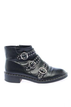 Pull & Bear Reißverschluss-Stiefeletten schwarz Casual-Look