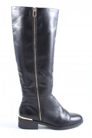 Pull & Bear Riding Boots black casual look